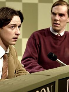 "Dorky and Geeky Benedict, with James MacAvoy in ""Starter for 10"" :-D"