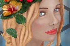 ragazza con fiori su testa finale