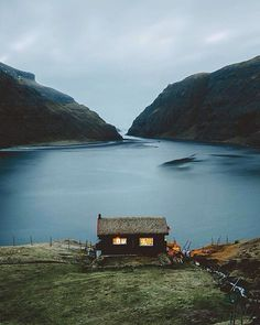 Little house by the water. Saksun, Faroe Islands | Photo by @namkcaps