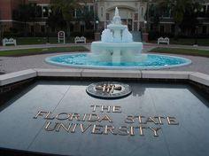 FSU - Florida State University Seminoles - fountain & plaque in front of Wescott Building