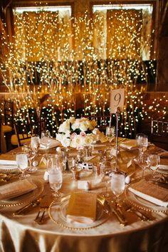 Photographer: James Christianson Photography; Wedding reception lighting idea