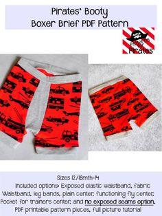 Pirates Booty Boxer Briefs Pattern | Top 12 Kids Underwear Patterns