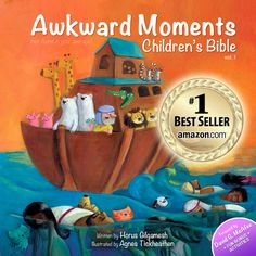 "Combining real Bible verses with whimsical illustrations, ""Awkward Moments (Not Found In Your Average) Children's Bible"" offers much more than an irreverent gag gift for the coffee table. ""The goal of the project,"" says author Horus Gilgamesh, ""is to challenge readers from all walks of life to gain a better understanding of the content of the Bible and its context in modern day culture. The fact that our fans report shooting milk out their noses from laughter is just an added bonus."""