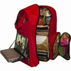 Amazon.com: Travel Baby Depot Bag / Travel Diaper Backpack in Cranberry Red: Baby $106.99