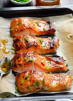 Clean Eating Baked Thai Salmon