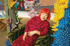 """PATTERN MAKER   Yayoi Kusama, photographed in her Tokyo studio. """"Through art, I was able..."""
