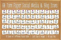 I just released 60 Torn Paper Push Pin Icons-Pastel on Creative Market.