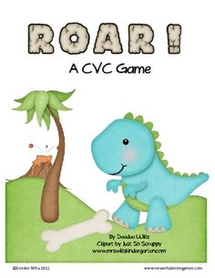 Super cute dinosaurs are featured in this fun game for your kindergarten students.   This activity includes 72 CVC word cards that are easily decod...