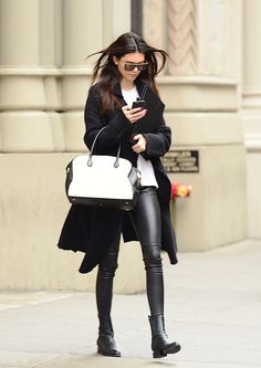 Kendall Jenner // Match your pants to your shoes to elongate your legs