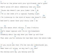 You Belong with Me - Taylor Swift ukulele tab