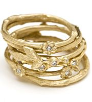 Kamofie stacking rings.  I love jewelry inspired by nature.