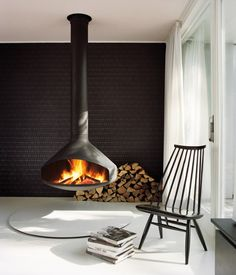 Buy and Install a Stove in Ware, St Albans, North London, Cambridge – Freestanding fireplace wood burning Hanging Fireplace, Metal Fireplace, Freestanding Fireplace, Open Fireplace, Fireplace Design, Fireplace Ideas, Focus Fireplaces, Modern Fireplaces, Wood Burning Logs