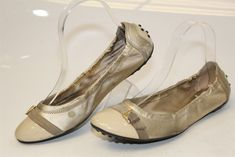 4be440f6b951a Tod's Italy Made Womens 37 7 Leather Cap Toe Ballet Flats Shoes ryn  #fashion #