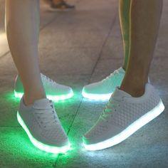 Respirable Zapatillas Con Luces Mujer Bajos