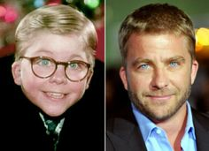 Ralphie from Christmas Story, all grown up!    No other board to pin this to. What an image of the passage of time. Plus, what a cutie pie, then and now!