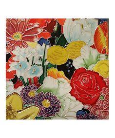 Loving this Flower Collage Garden Tile on #zulily! #zulilyfinds