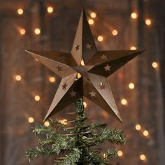 rusty barn star tree topper