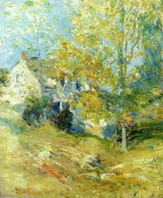 John Henry Twachtman  |   Autumn afternoon, n.d.