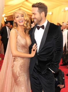Blake Lively & Ryan Reynolds are Gucci perfect at Met Gala 2014 Blake Lively Ryan Reynolds, Blake And Ryan, Beaux Couples, Cute Couples, Jessica Chastain, Perfect People, Pretty People, Glamour, Famous Couples