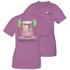 Simply Southern® Ladies' Eggplant Dogs In Golf cart T-Shirt
