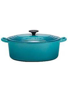 Le Creuset Teal oval casserole 29cm
