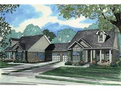 Smizer Mill Duplex Home Plan 055D-0366 | House Plans and More