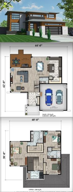 First Choice - Floor Plan Add a study downstairs Garage Floor Plans, Sims House Plans, House Layout Plans, Dream House Plans, Modern House Plans, Small House Plans, House Layouts, Modern House Design, House Floor Plans
