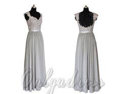 Hey, I found this really awesome Etsy listing at https://www.etsy.com/listing/196107701/grey-bridesmaid-dresses-long-chiffon