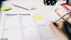 Planner semanal para imprimir! | Kah Studies #study #planner #printable #free #freebie #download #minimalist #minimal #studyblr #blog #organization #organização