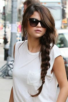 SELENA GOMEZ Braided Ponytail Hairstyle