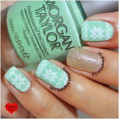 292 Mint Green Christmas Nails Di 2020