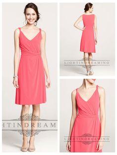 Twisted Straps V-neck Shirred Knee Length Bridesmaid Dresses  #wedding #dresses #dress #lightindream #lightindreaming #wed #clothing   #gown #weddingdresses #dressesonline #dressonline #bride  http://www.ckdress.com/twisted-straps-vneck-shirred-knee-length-  bridesmaid-dresses-p-53.html