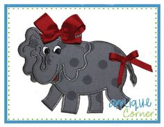 Elephant Girl Full Body Applique Design