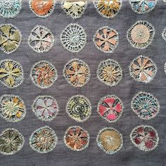Sophie Digard.  Linen crochet on linen cloth.