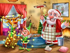 Santa's house is a mess! Can you help Santa clean up his messy house in time for Christmas? Be Santa's little helper! Have fun around the house wit. House Is A Mess, Messy House, Christmas Apps, Holiday Games, Game Google, Princess Peach, Disney Princess, Santa's Little Helper, Happy Holidays
