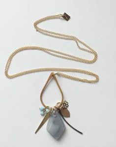 grayc glass | Custom Glasswork »One-of-a-Kind jewelry handmade in Calfiornia.  Long Charm necklace $88.00.