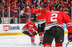 2015 Stanley Cup Playoff game 4. GWG by Seabs 1 minute into triple OT against the Preds. Look at Kaner trying to pick him up! Lol!