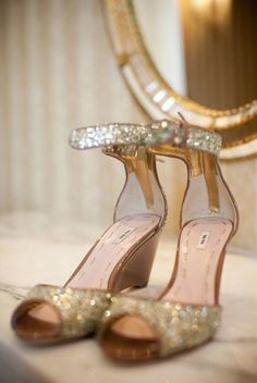 Sparkle wedges! I have to do some searching to see if I can find these! They're not blue but I figured you never say no to sparkle