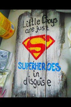 Super hero little boys...
