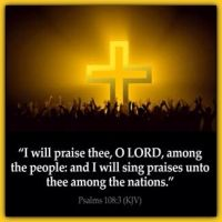 Psalm  108:3    I will praise thee, O Lord, among the people: and I will sing praises unto thee amon