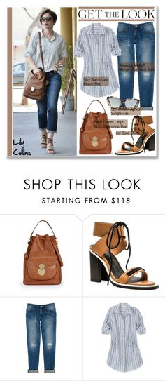 """""""Get the Look : Lily Collins"""" by helenevlacho ❤ liked on Polyvore featuring Ralph Lauren, Sol Sana, Rebecca Minkoff, Tory Burch, Steven Alan, GetTheLook, StreetStyle, lilycollins, ralphlauren and CelebrityStyle"""