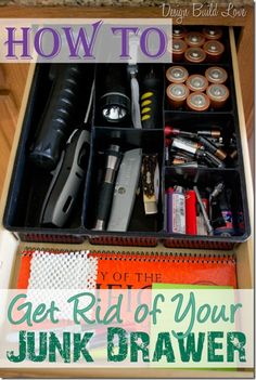 Junk Drawer No More (Day 21: 30 Days to and Organized Home) | Design Build Love