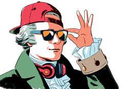 Alexander Hamilton illustration for Columbia University Magazine.