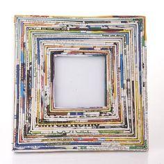 marco con papel