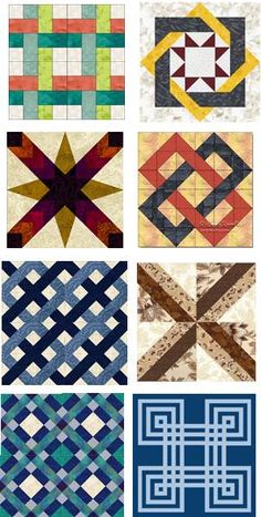 Free pattern day: Lattice and Woven quilts