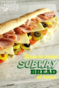 Make Subway bread at home without all the unknown added ingredients! Better tasting and better for you!
