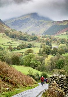 Walking in the Newlands valley near Keswick in the Lake District, England