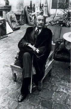 Photo by Bernard Bardinet (b.1945), Salvador Dali, Paris, 1976.