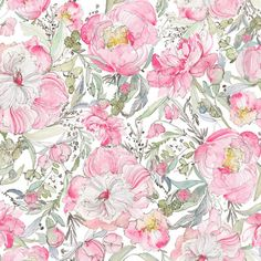 Kristy is offering a limited selection of her favorite floral patterns in fabric yardage featuring her Pastel Peony Garden artwork. Kristy's BEST SELLING pattern!!! The softest palette of blush, sage