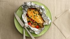 Grilled Parmesan-Ranch Chicken Foil Packets recipe from Betty Crocker